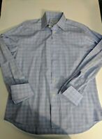 Charles Tyrwhitt 16/35 Slim Fit Dress Shirt Blue/red/White French cuffs
