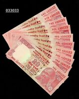Rs 20/- India Banknote Issue Double Number x 10  Notes GEM UNC ! (033033 X 10)