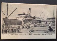 1907 Steamship Loading Naval Stores for Shipment Brunswick Georgia Postcard