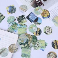 45 pcs meet van gogh reproduce classic decorative stickers adhesive stickers DBL