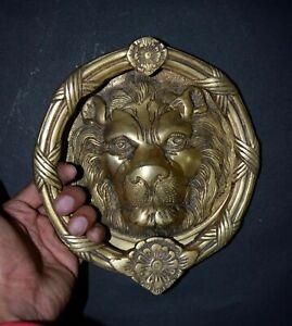 8 Inches Long Lion Face Heavy Door Knocker Tiger Face Door Bell RD110