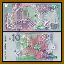 Suriname 10 Gulden, 2000 P-147 Humming Bird Unc