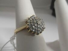 102J Ladies 9ct Gold 0.50ct Diamond cluster engagement Ring Size M