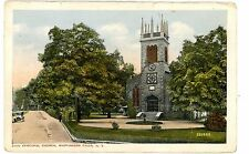 Wappingers Falls NY -ZION EPISCOPAL CHURCH & SIDE STREET- Postcard