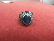 US Army Air Force Ring STERLING  used Blue stone AAF
