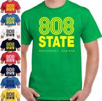 808 State T-Shirt Mens FAC51 The Hacienda Festival 90's Factory Records FAC 51