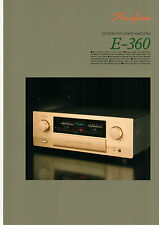 DEPLIANT accuphase e-360 b574