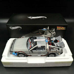 1:18 Elite Hot Wheels BCJ97 Back To The Future Time Machine Diecast Edition Gift