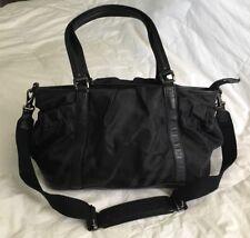 BURBERRY Black Tonal Nylon/Leather Diaper Bag Tote Convertible Bag-VERY NICE