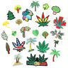 Trees Leaves DIY Embroidered Sew Iron On Patches Badge Fabric Applique Sticker
