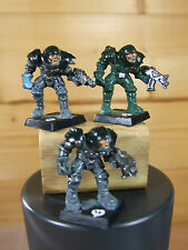 3 PLASTIC CONVERTED BLOODBOWL HUMANS INTO GUARDSMEN PAINTED (900)