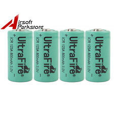 4pcs UltraFire ICR 123A 800mAh 3V Rechargeable Li-ion Battery Cells for LED