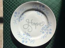 HOPE DECORATIVE PLATE -  BLUE FLOWER - wall decor - kitchen  - HOME DECOR