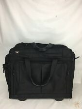 VICTORINOX Swiss Army Rolling Carry On Computer Bag BLACK ~ Retractable handle