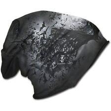 Spiral Direct GOTH NIGHTS Light Cotton Beanies Black/Bats/Vampire/Darkwear/Hat