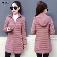 Women Winter Hooded Warm Coat Slim Plus Size Cotton Padded Jacket 6 Colors