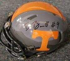 DEREK BARNETT  Tennessee Vols Autographed Smokey Grey Mini Helmet COA   Eagles