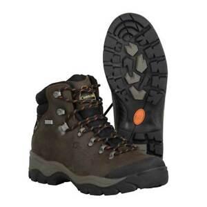 ** New ** Prologic Kiruna Leather 100% Waterproof Boots Dark Brown Size 6  (40)