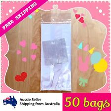Clear Cello Cellophane Plastic Loot Party Bags Favour Lolly Gift Wedding X 50
