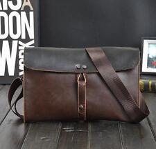 071 Men vintage leather  shouder bag handbag messenger small wallet Clutch bag