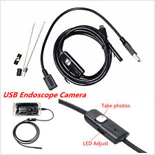 2M 6LED Waterproof USB Endoscope Inspection Borescope Camera for OTG Android PC