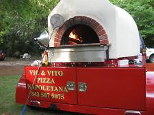 wood fire pizza oven and trailer, Valorini Oven, Mugnaini Oven and Trailer