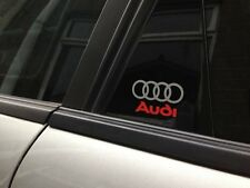 2 x Audi & Rings-S3-S4-S5-S6-S8-S Line-Black-Edition-Quattro-Car-Decal-Stickers
