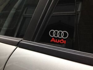 4 Sets of  Audi & Rings, A1, A3, A5, Q3, Q5, Q7,Q8, TT, R8, Decal Stickers.