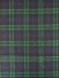 "Ralph Lauren ? Blackwatch Tartan Plaid Fabric Wool Upholstery 60"" w x 94"""
