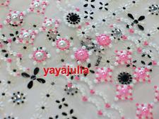 4 Sheet 3D Nail Art Rhinestones Beads Decal Stickers MJ