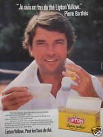 PUBLICITÉ 1985 LIPTON YELLOW POUR LES FANS DE THÉ - ADVERTISING