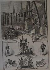 Harper's Weekly, 1876. The Centennial - Norwegian Department. Wood Engraving.