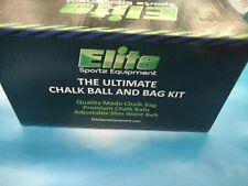 Elite Sportz Equipment Rock Climbing Chalk Bag and 2 Chalk Balls