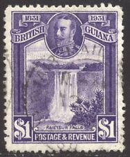 British Guiana #209 Used - 1931 $1 Violet ($70)
