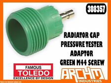 TOLEDO 308357 - RADIATOR CAP PRESSURE TESTER ADAPTOR - GREEN M44 SCREW