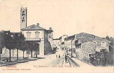 9093) IMPRUNETA (FIRENZE) VIA UMBERTO VISTA DALLA PIAZZA NUOVA, ANIMATA. VG 1911