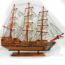 WOOD MODEL 60cm Length SAILING SHIP Sailing Boat Sailer Tall Ship Nautical decor