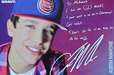 Austin Mahone-autografiada mapa-Autograph autógrafo fan colección recortes