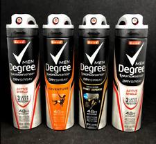 Degree Men MotionSense Antiperspirant Dry Spray VARIETY PACK (LOT OF 4)