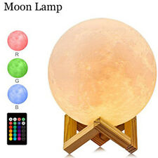 3D USB LED Moon Night Light Lamp 16 Color Charging Touch Control Home Decor Gift