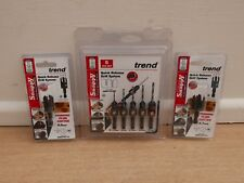 TREND SNAPPY 5PCE DRILL COUNTERSINK SET SNAP/CS/SET + PC38 & PC12 PLUG CUTTERS