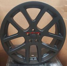 """24"""" Wheels Matte Black Replica Viper Rims Tires Fit Dodge RAM 1500 SRT 10 5x139"""