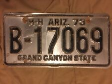 1973 Arizona MOTOR HOME License Plate - Vintage - B-17069 - Tag