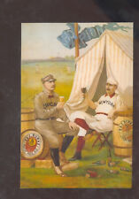 CAP ANSON BUCK EWING BASEBALL PLAYERS BEER ADVERTISING POSTCARD COPY