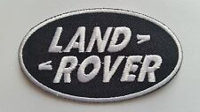 MOTOR RACING CAR SPEED FESTIVAL SEW ON / IRON ON PATCH:- LAND ROVER (a) BLACK