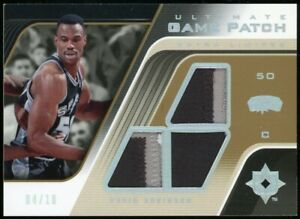 DAVID ROBINSON 2004-05 UD Ultimate Collection Triple Game Worn Patch /10 Spurs