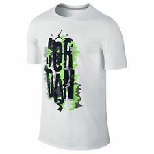 Nike Air Jordan Retro 7 Vintage T-Shirt White/Black/Electric Lime Men's Large