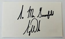 Tiger Woods Signed Autographed 3x5 Card Beckett BAS Letter Early Vintage Sig