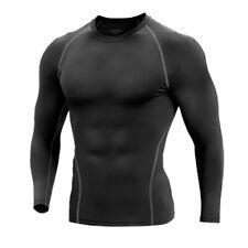 Calzas Térmicas Compresión Hombre Capa Base Camisa Top Manga Larga Gimnasio activewear