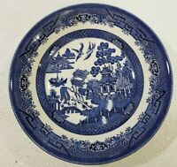 "Churchill BLUE WILLOW Staffordshire England Salad/Vegetable Bowl 9"" x 2"""